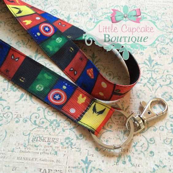 Super Hero Icons 18 Lanyard with Lobster by LittleCupcakeGirls