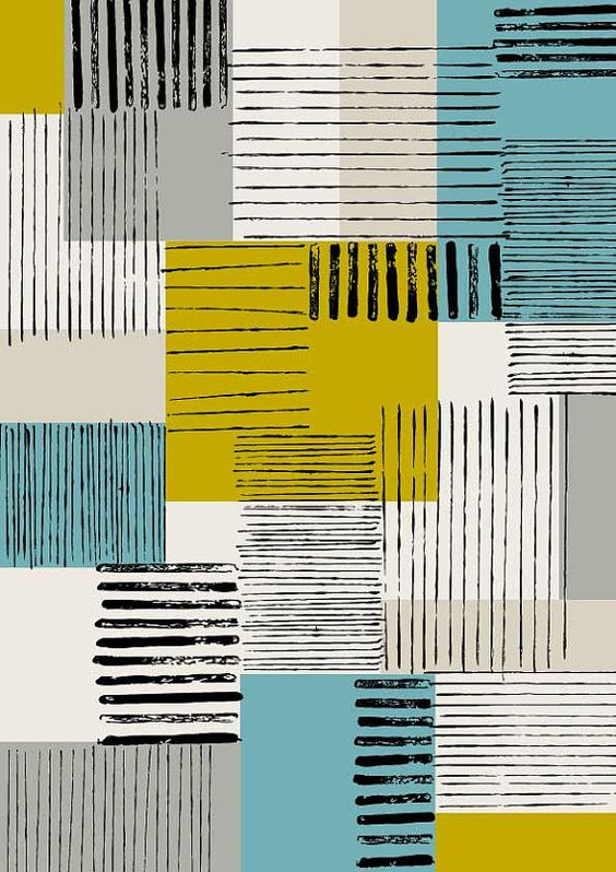 Colour Block No2, limited edition giclee print by Eloise Renouf on Etsy