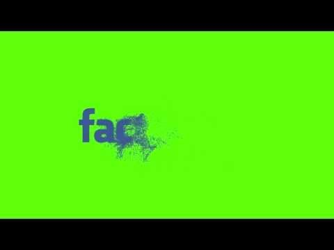 Facebook Logo Particle Reveal Hd Green Screen Effects Downloadable Youtube Facebook Logo Greenscreen Green Screen Effects