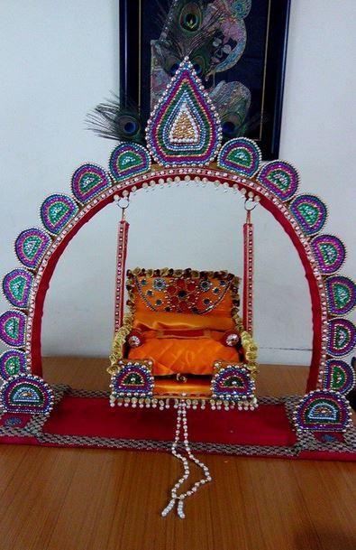 Janmashtami Jhula Decoration Ideas Indian Festival Decor Ideas Pinterest Ideas And Decoration