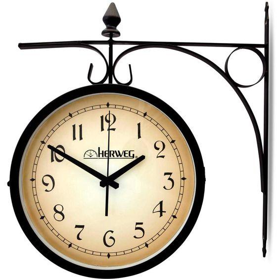 Relógio de Parede Quartz Preto - Herweg 239,00