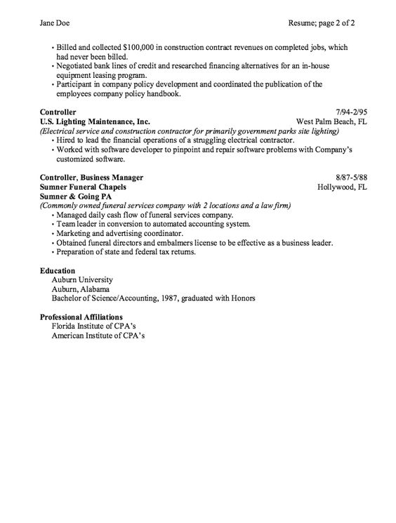 sample business development and consulting resume - http - salon manager resume