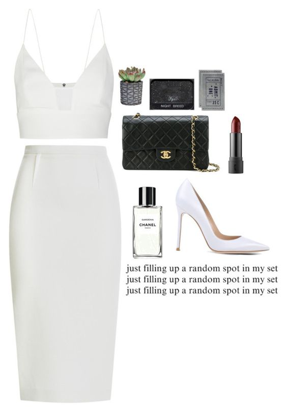 """""""Red Carpet Movie Premiere"""" by kahlonsan ❤ liked on Polyvore featuring Narciso Rodriguez, Roland Mouret, Chanel, Gianvito Rossi and H&M"""