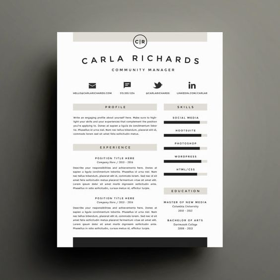 Professional Resume Template and Cover Letter Template for Word ...