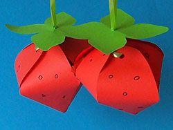 Basteln Geschenkkartons And Erdbeeren On Pinterest