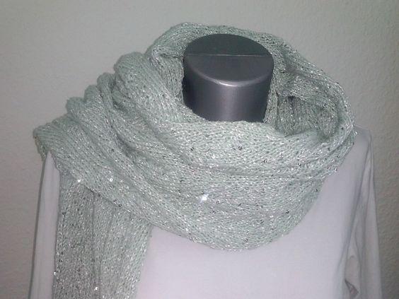"""Stola """"Gartenparty"""" handgestrickt (Baumwolle) von VerStrickt und zuGenäht Kiel auf DaWanda.com"""