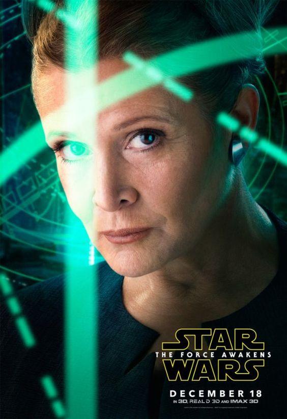 Posters Com os Personagens Principais de Star Wars - O Despertar da Força.