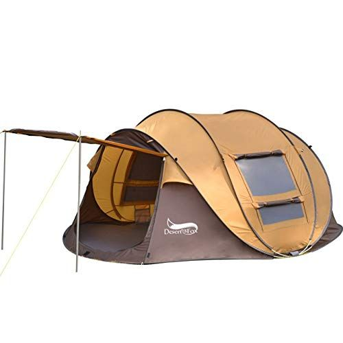 DESERT & FOX 3 4 Person Pop up Tent, Automatic Instant Setup