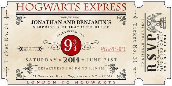 poudlard express invitation