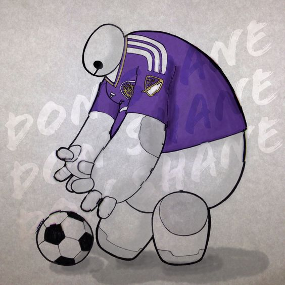 Baymax is a supporter of Orlando City Soccer Club