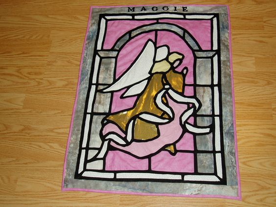 Maggie's angel quilt wall hanging