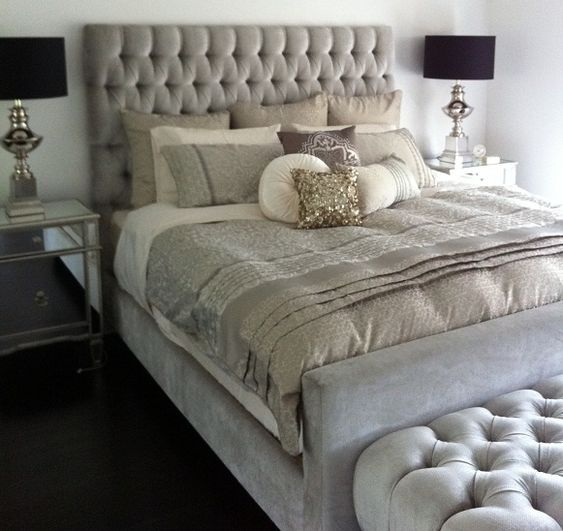 Heatherly Design Islington bed with Kensington bedhead in Dolce Marble velvet