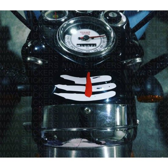 Mahadev Tripund Tilak Shiva Stickers For Cars Biks Laptops