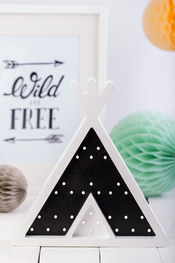 Teepee Tent Wigwam shape Kids Night Light - perfect for a kids room or wall…