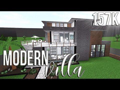 Roblox Bloxburg Modern Villa 157k Youtube Modern House