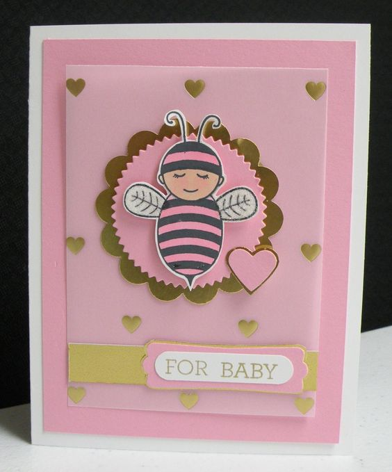 Little Baby Bumblebee - Stampin' Up! Created by Sandy Mott
