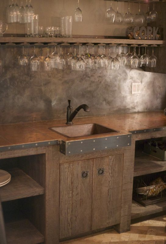 Galvanized Steel Wine And Wooden Countertops On Pinterest