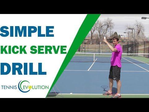 Simple Kick Serve Drill Follow Along Tennis Serve Youtube Tennis Serve Tennis Tennis Forehand