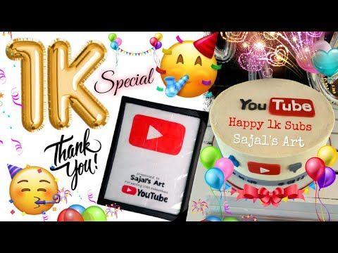 I Nailed It Alhmduliallah 1k Subscribers Celebration Sajal S Art Youtube Youtube Art Youtube Celebration Art