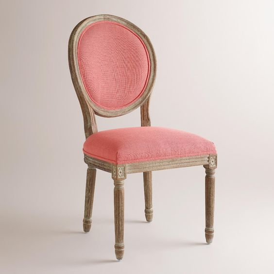 Coral linen paige round back dining chairs set of 2 upholstery chairs and plush - Plush dining room chairs ...