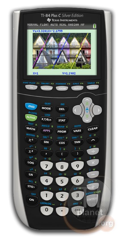 The new TI-84+ C color graphing calculator