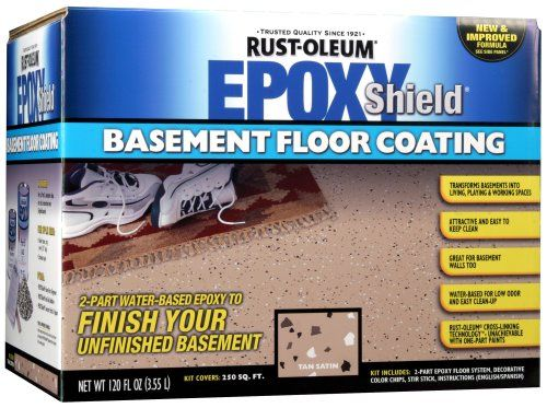Rust-Oleum Basement Floor Kit, Tan Rust-Oleum. Sold on Amazon for $60. Should be enough for the whole laundry room area.