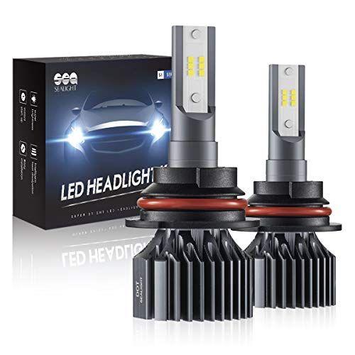9007 Hb5 Led Headlight Bulbs Sealight Upgraded Super Bright 24xcsp Led Chips Headlight Kit Hi Lo Beam 6500lm 6000k White Pack Of 2 Car Accessories Online M Led Headlights Headlight Bulbs Led