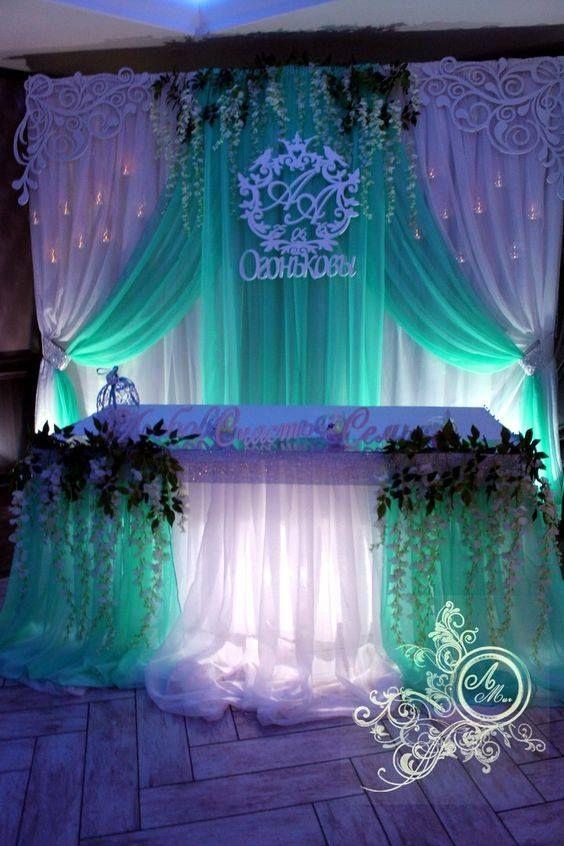 Purple Mint Background Decor Wedding Stage Backdrop