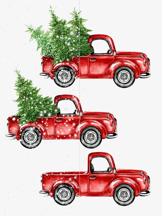 Download This Cartoon Car Watercolor Car Car Illustration Creative Car Png Image And Clipart For Christmas Watercolor Christmas Paintings Christmas Drawing