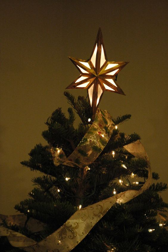 Lighted Bethlehem Star Tree Topper Trees, Parchment paper and