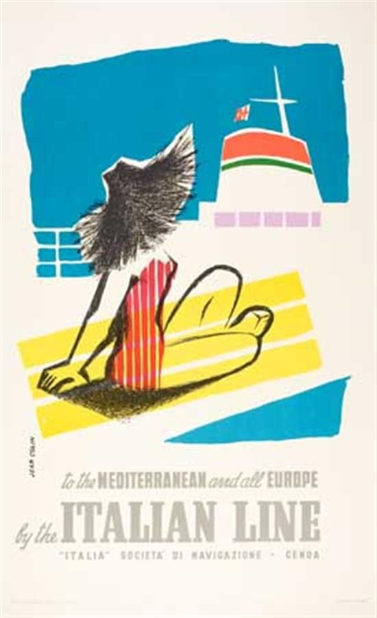 To the Mediterranean and all Europe by the Italian Line - 1957 - (Jean Colin) -