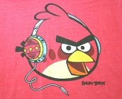 Angry Birds t-shirt. RED Angry Birds t-shirt!