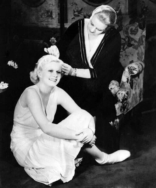 Jean Harlow and her mother Jean