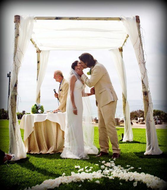 Arch Wedding Rental: Aspen Birch Bamboo Wedding Canopy Chuppah Arch Rentals