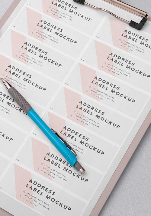 Free Wedding Address Label Mockup Zippypixels Wedding Address Labels Wedding Address Handmade Wedding Invitations