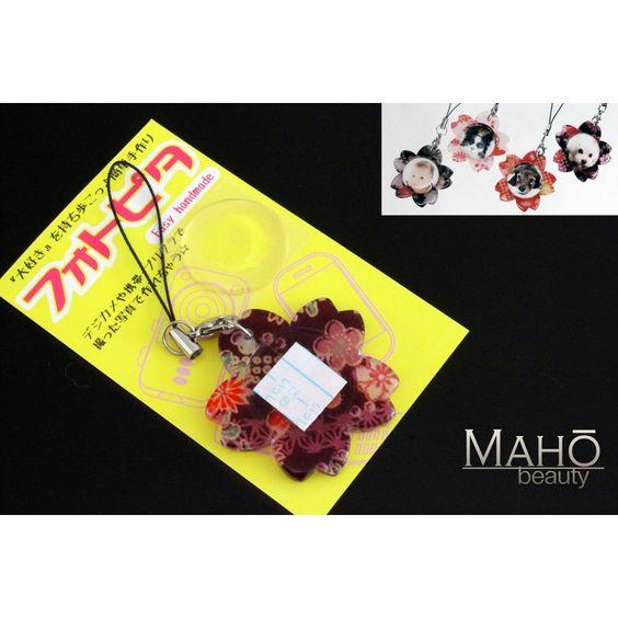 Japanese style Cherry blossom mobile phone charm Photo strap purple