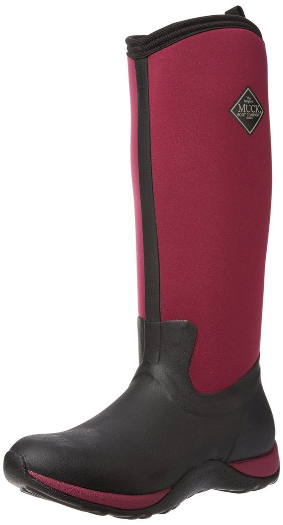Muck Boots Women's Arctic Adventure Black/Maroon Insulated ...