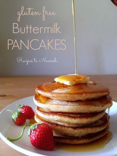 Gluten Free Buttermilk Pancakes ... delicious + fluffy, the perfect ...