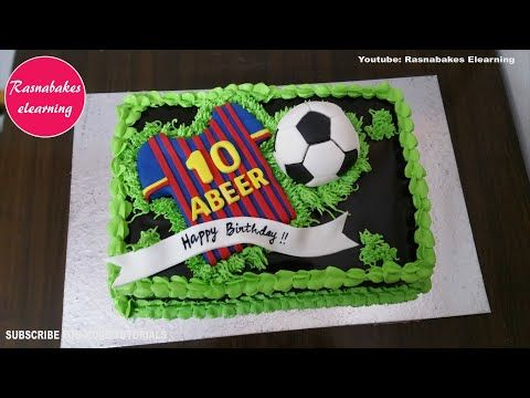 21 Fcb Soccer Football Birthday Chocolate Cake Simple Easy Design Ideas Decorating Tutori In 2020 Soccer Birthday Cakes Simple Cake Designs Chocolate Cake Decoration