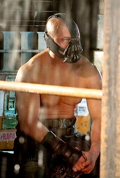 Bane, the hottest, smartest, vilest, sexiest villain EVER. Seriously, I'm in love.