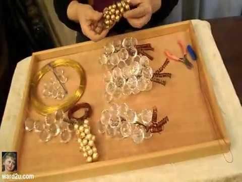 ناهد عبود و طريقة عمل عنقود عنب حبات كرستال Https Www Ward2u Com Showthread Php T 24972 Crafts Projects To Try Handicraft