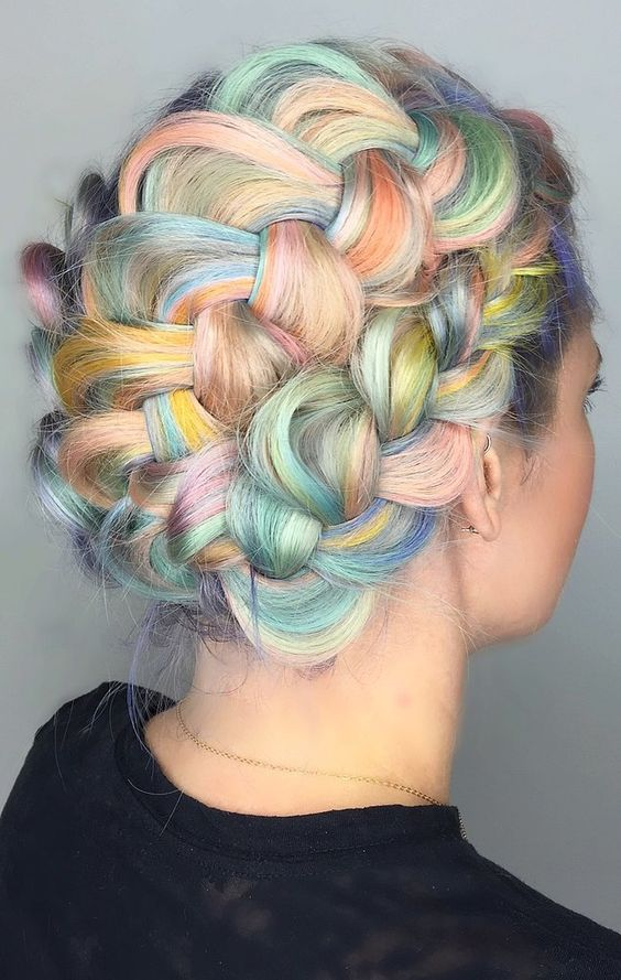 Macaron Hair Is the Sweetest Way to Get In on the Rainbow Trend: