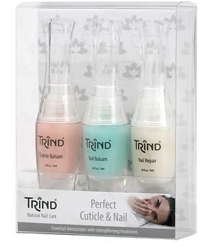 The nail products in this kit are perfect for maintaining a manicure or pedicure. Remove overgrown cuticles and prevent hangnails. Rehydrate dry fingernails and toenails to support healthy, natural growth. Your Trind Perfect Cuticle & Nail Kit contains 3 products: Trind Cuticle Repair Balsam helps prevent dry cuticles and hangnails. Trind Moisturizing Nail Balsam contains natural moisturizers that hydrate dry, #brittlenails. Trind Nail Repair will strengthen your #nails.