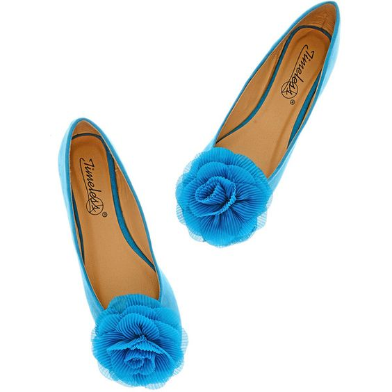 TIMELESS ROSEBUD Turquoise Suede Ballerinas