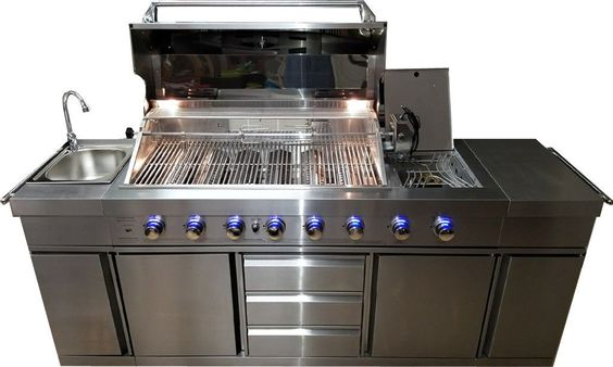 Xl Size Wood Fired Outdoor Stainless Steel Pizza Oven Bbq Grill W Accessories In 2020 Outdoor Bbq Kitchen Bbq Kitchen Kitchen Island Grill