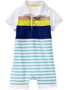 Striped Polo One-Pieces for Baby   Old Navy