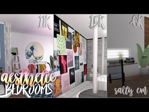 Roblox Bloxburg Three Aesthetic Bedroom Ideas Youtube Retro Bedrooms Aesthetic Bedroom Ideas Aesthetic Bedroom