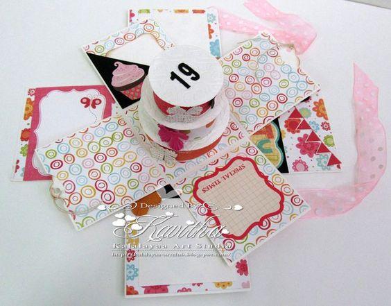 Explosion box | Scrapbooking | Pinterest