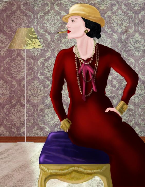 Ilustraciones COCO CHANEL para un proyecto editorial propio. espero que les guste. http://iconofashion.blogspot.com/2013/11/must-see-chanel-ilustrada.html