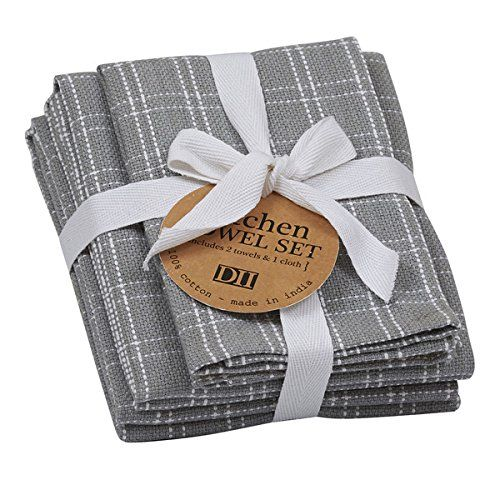 100 Cotton Towel Set Includes 2 Dish Towels And 1 Wash Cloth Tied